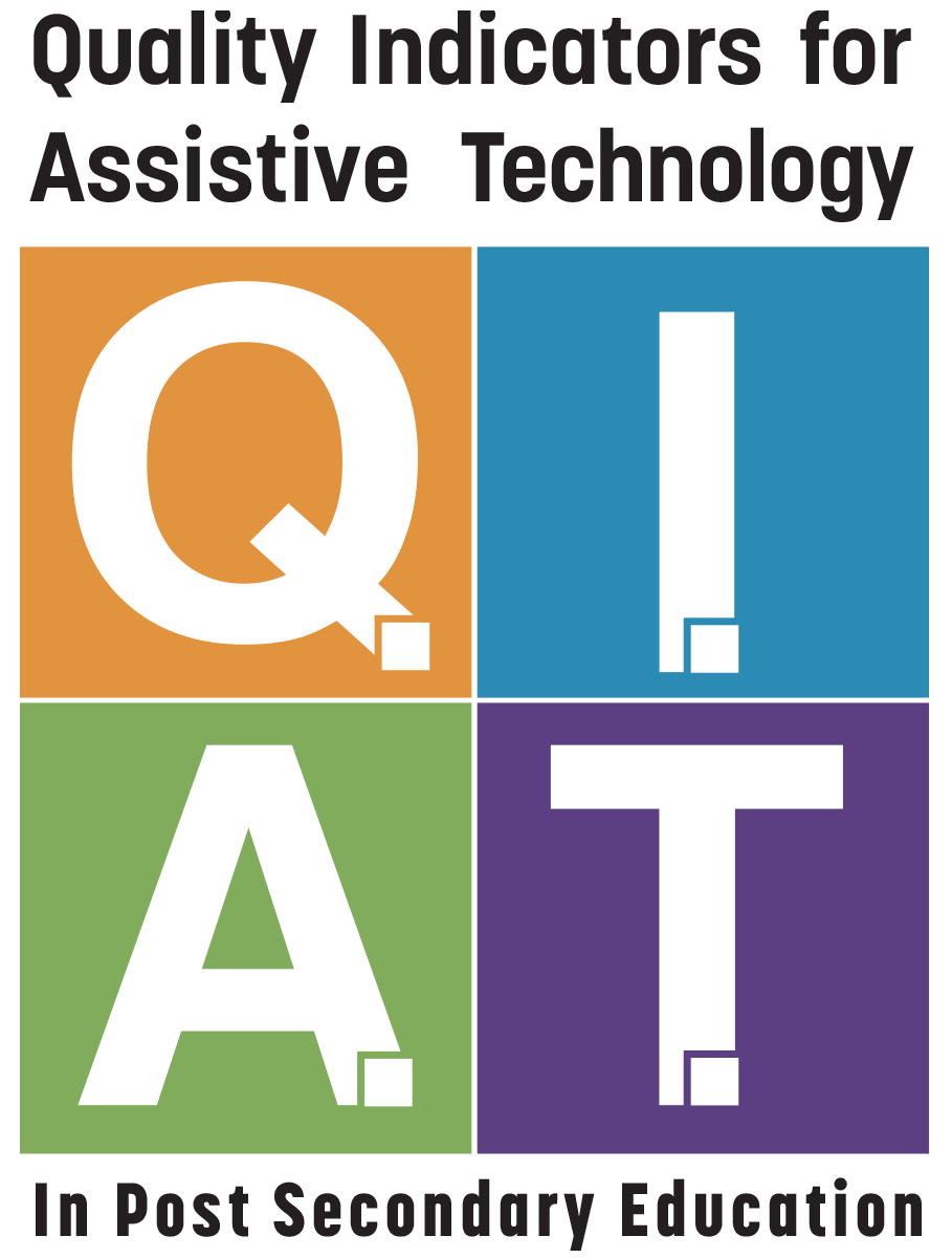 Register - Quality Indicators for Assistive Technology - Post Secondary